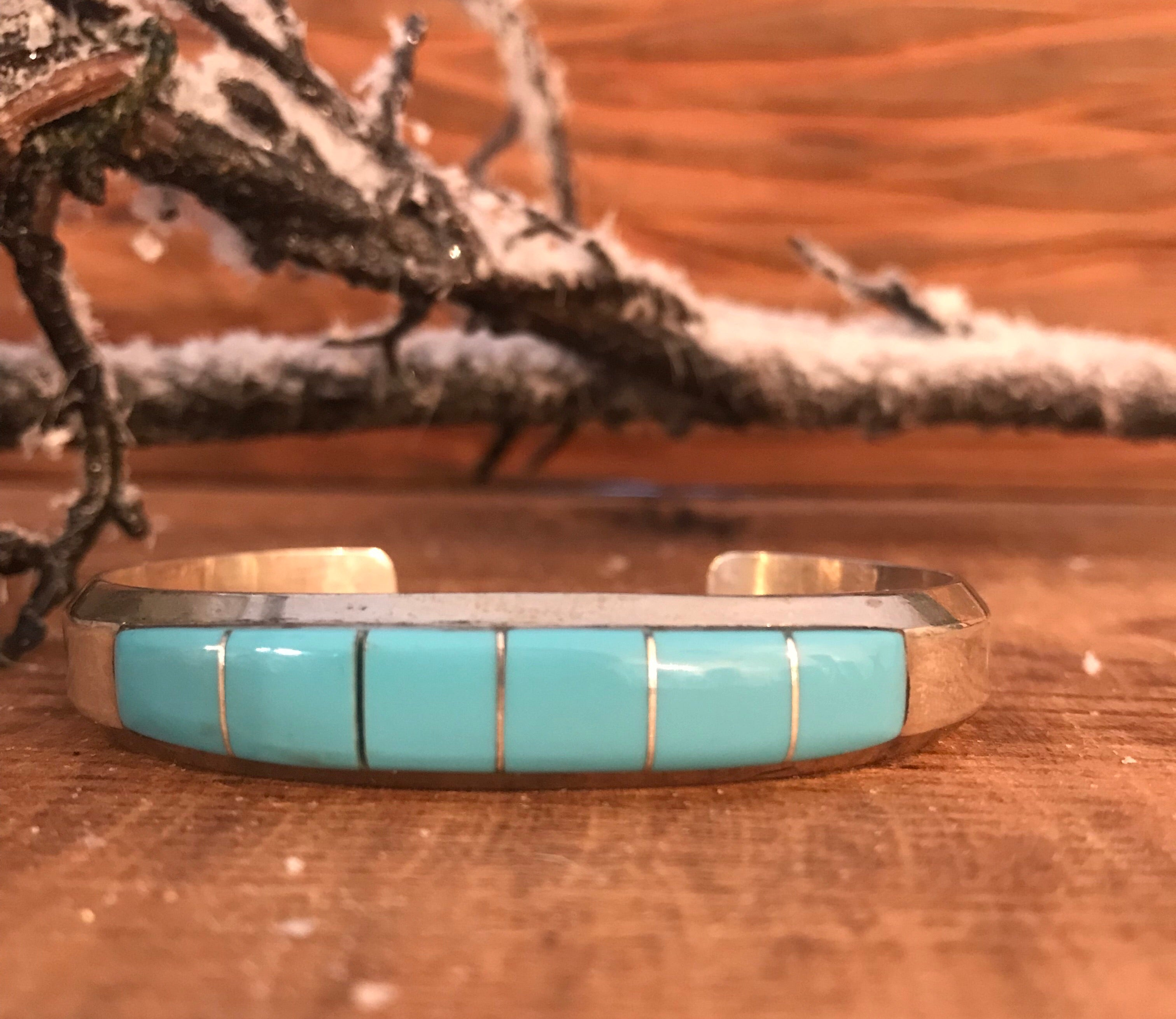 The Charlie Inlaid Turquoise Cuff - Ny Texas Style Boutique