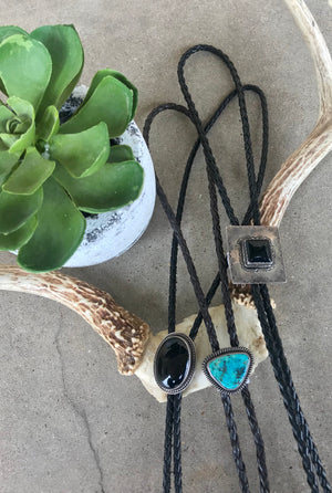 The Onyx Oval Bolo - Ny Texas Style Boutique