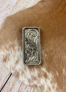 The Swirl Skinny Money Clip - Ny Texas Style Boutique