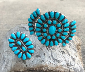 The Turquoise Cluster Cuff - Ny Texas Style Boutique