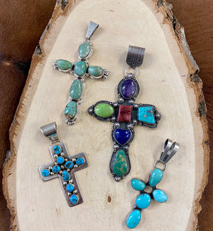 Multi Stone Cross Pendant - Ny Texas Style Boutique