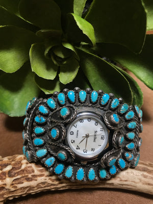 Ole John Turquoise Cluster Watch - Ny Texas Style Boutique