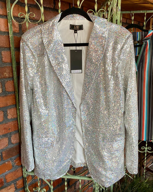 The Silver Sequin Blazer