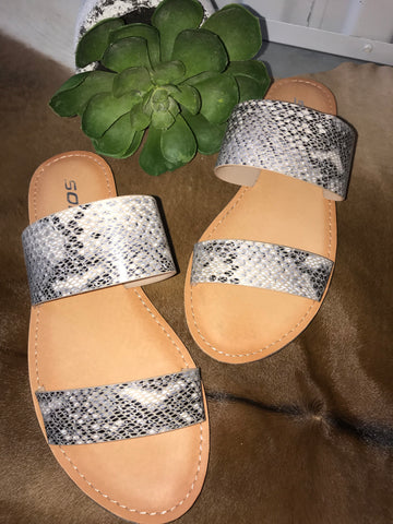 The Allie Sandal (SnakeSkin) - Ny Texas Style Boutique