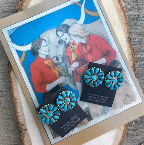 The Jinks Turquoise Cluster Earrings