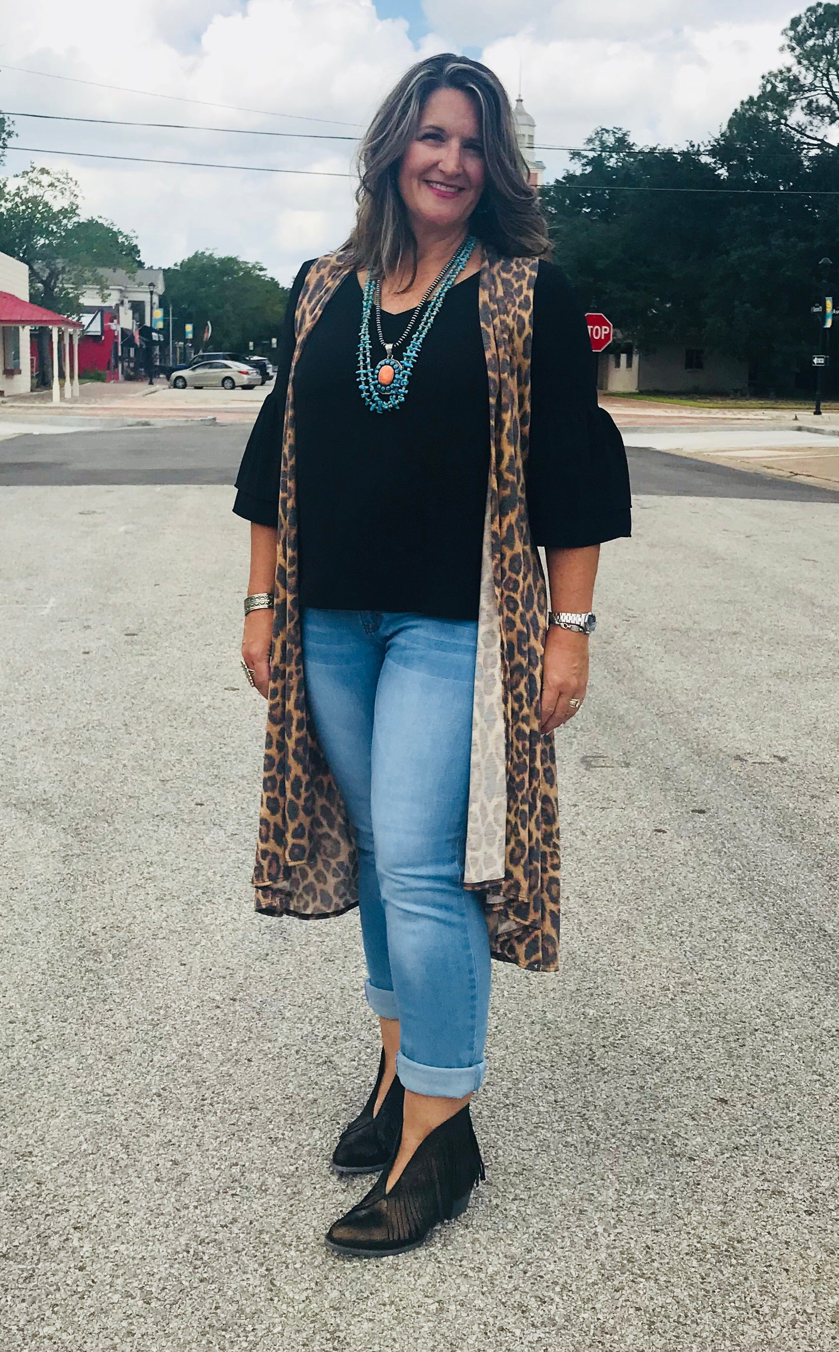 Linda Loves Black Bell Sleeve Top - Ny Texas Style Boutique