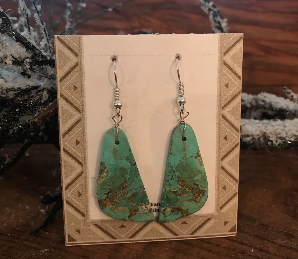 The Jeanne Turquoise Slab Earrings - Ny Texas Style Boutique