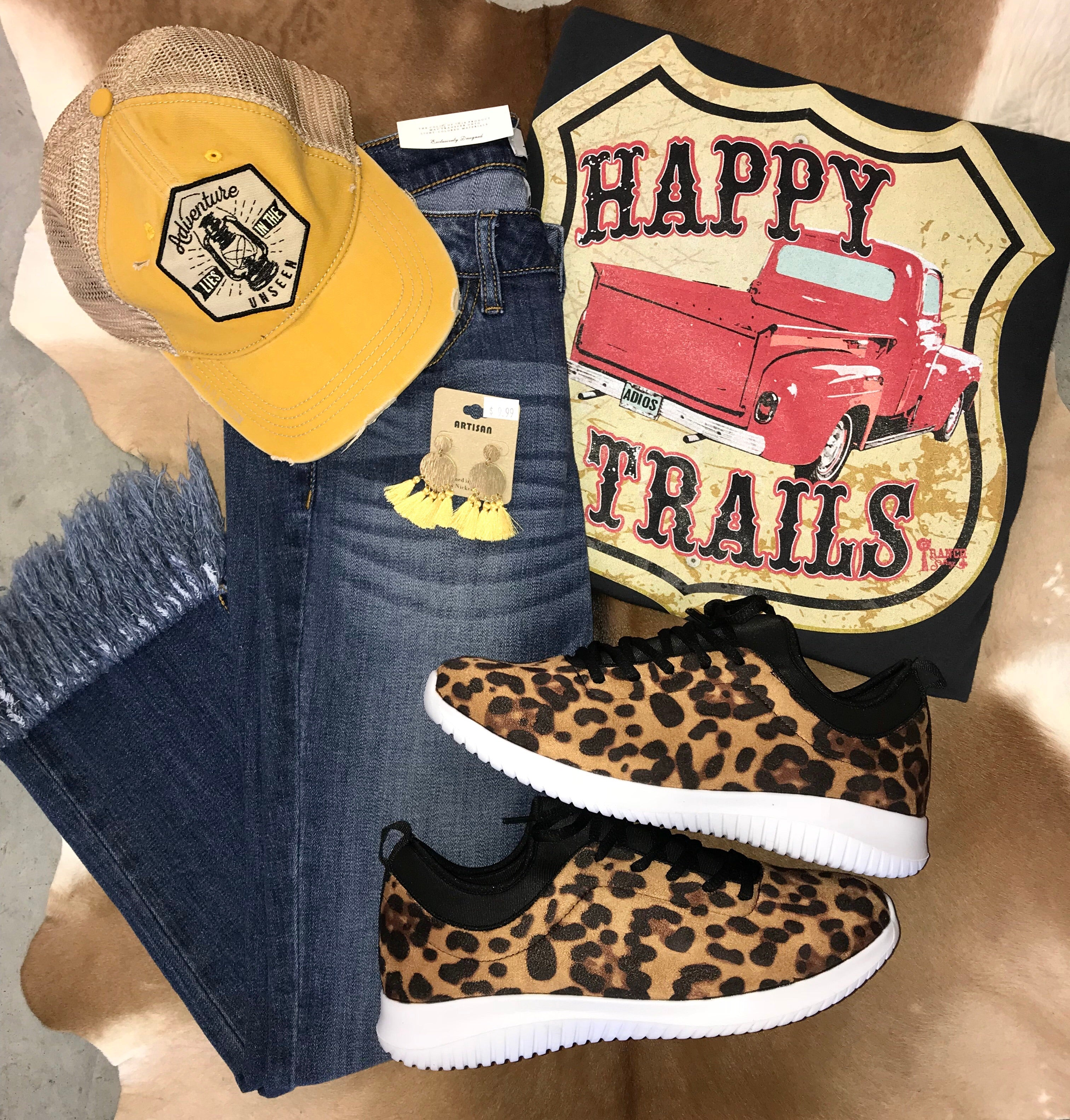 The Tomboy Queen Leopard Sneaker - Ny Texas Style Boutique