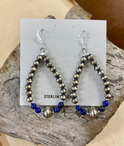 The Lapis Navajo Pearl Earrings - Ny Texas Style Boutique