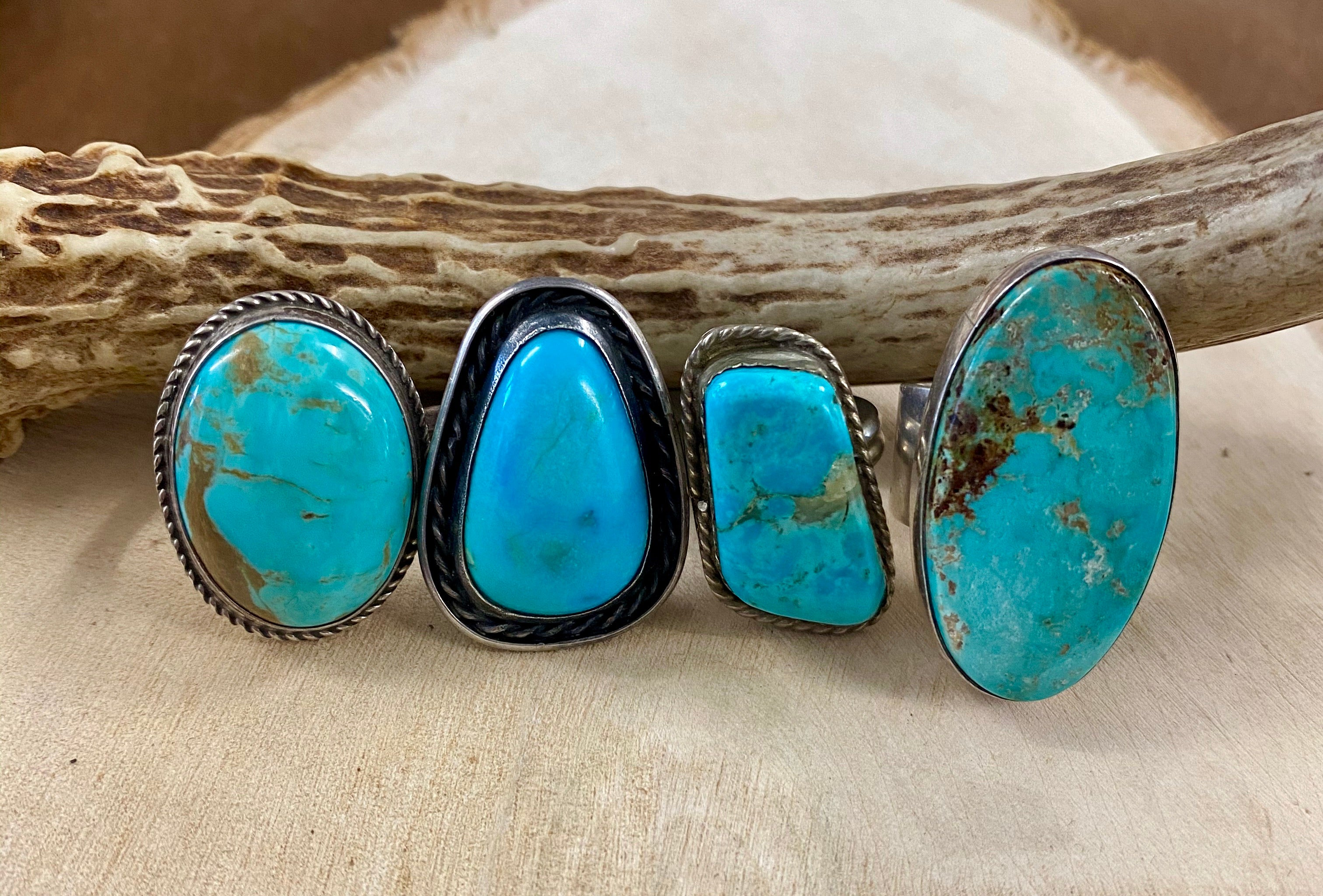 El Rectangle Turquoise Ring - Ny Texas Style Boutique