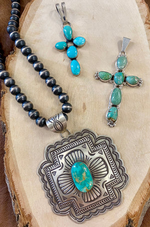 The PJ Begay Turquoise Cross Pendant - Ny Texas Style Boutique