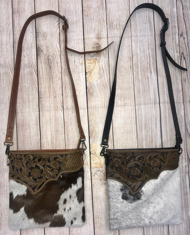 The Cowboy's Sweetheart Cowhide Purse - Ny Texas Style Boutique