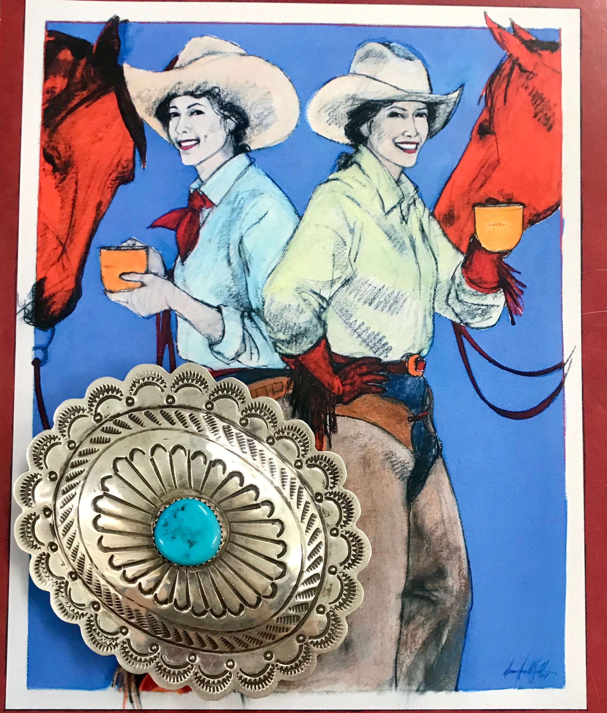 The Turquoise Belt Buckle - Ny Texas Style Boutique