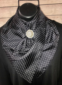 The Black Cowboy Polka Dot Wild Rag - Ny Texas Style Boutique