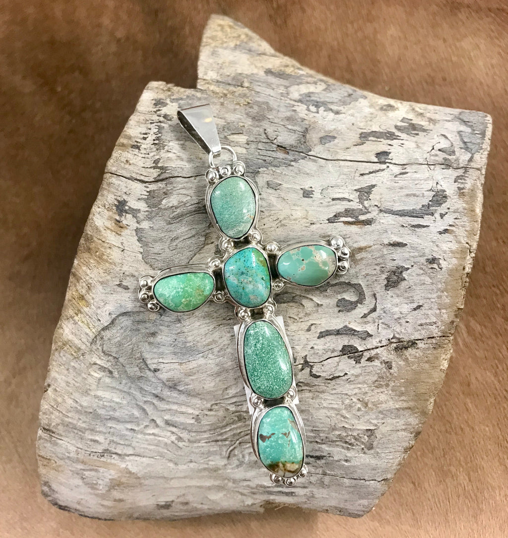 The D. Clark Turquoise Cross Pendant - Ny Texas Style Boutique