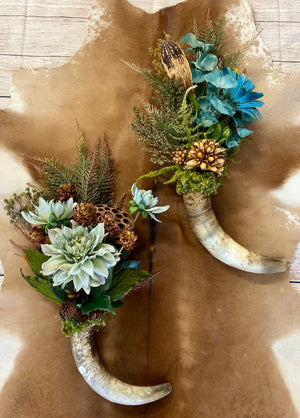 The Kristi Floral Horn Design - Ny Texas Style Boutique