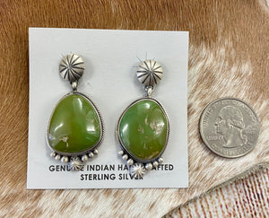 The C. Wylie Green Turquoise Earrings - Ny Texas Style Boutique