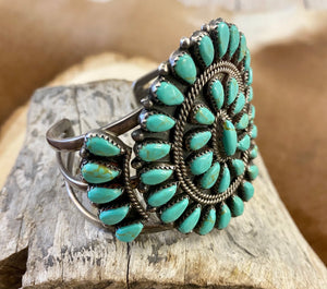 The S Turquoise Cluster Cuff - Ny Texas Style Boutique