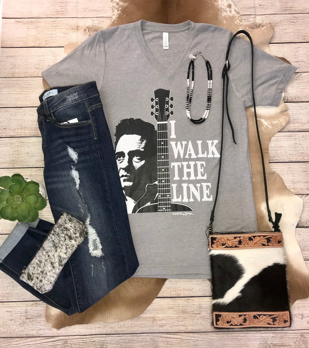 I Walk The Line Tee - Ny Texas Style Boutique