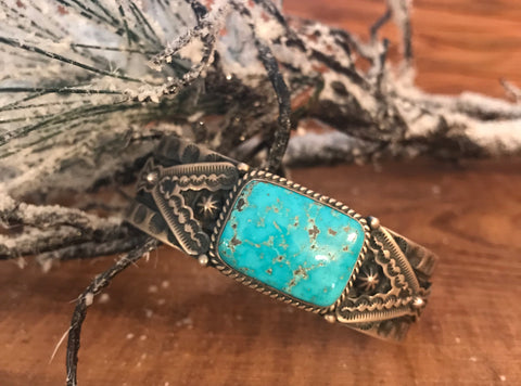 The Teepee Turquoise Stone Cuff