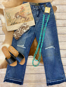 The Light Wash Distressed Boyfriend Jeans - Ny Texas Style Boutique