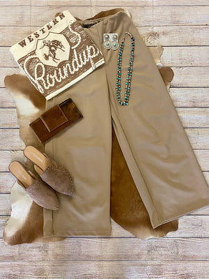 The Mocha Crop Pants - Ny Texas Style Boutique