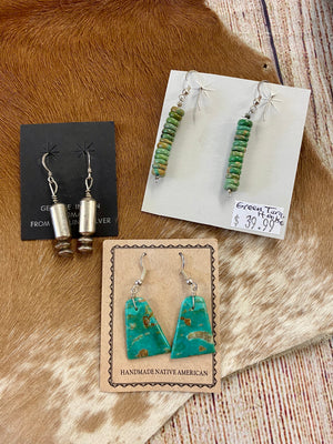 The Carmen Turquoise Slab Earrings - Ny Texas Style Boutique