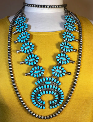 """I can still make Cheyenne"" Navajo Pearl Necklace - Ny Texas Style Boutique"