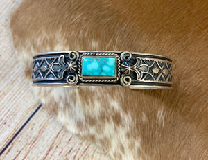 The A. Cadman Thin Turquoise Cuff - Ny Texas Style Boutique