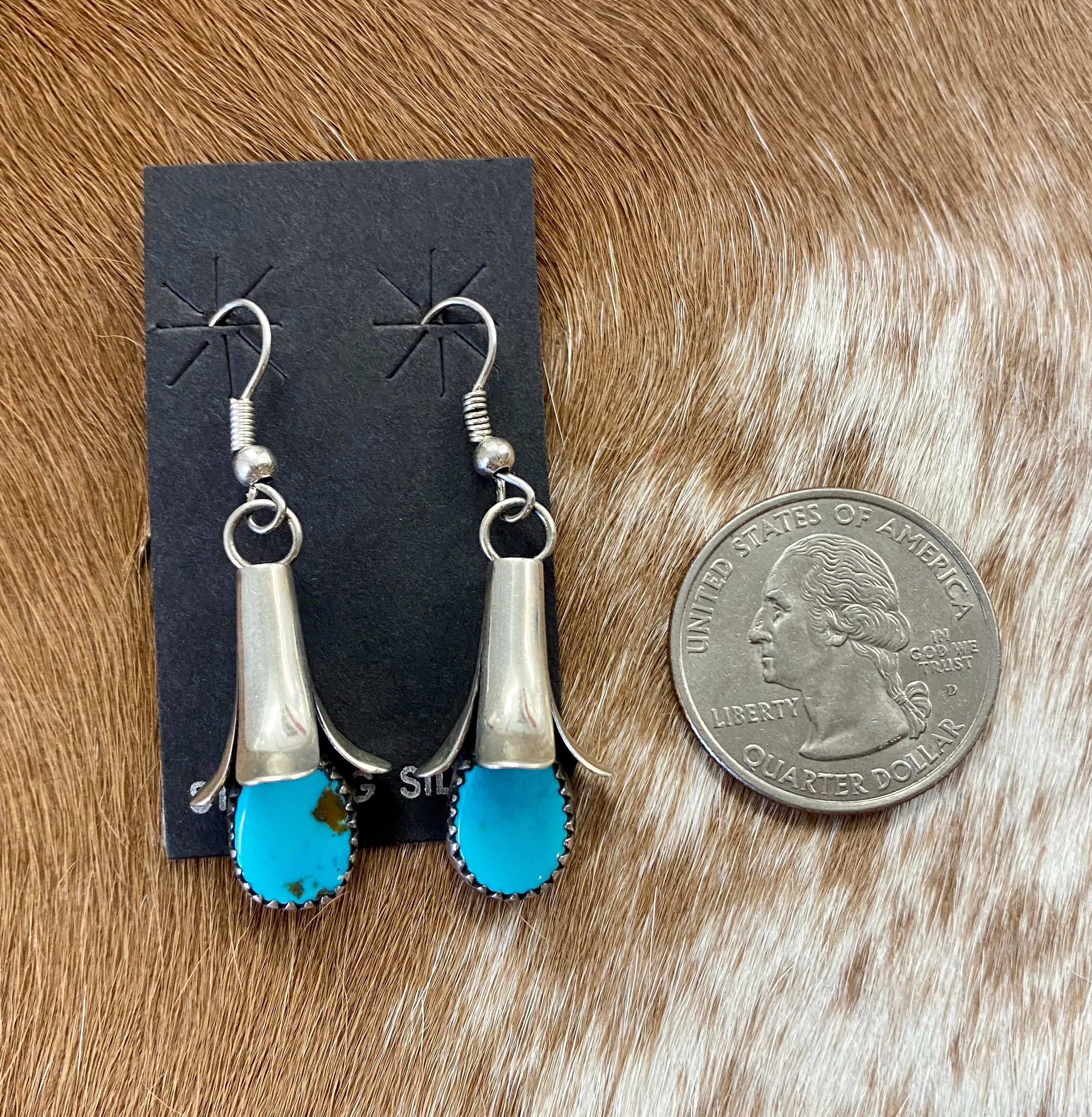 The Turquoise Blossom Earrings - Ny Texas Style Boutique