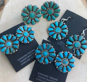 The Jinks Turquoise Cluster Earrings - Ny Texas Style Boutique