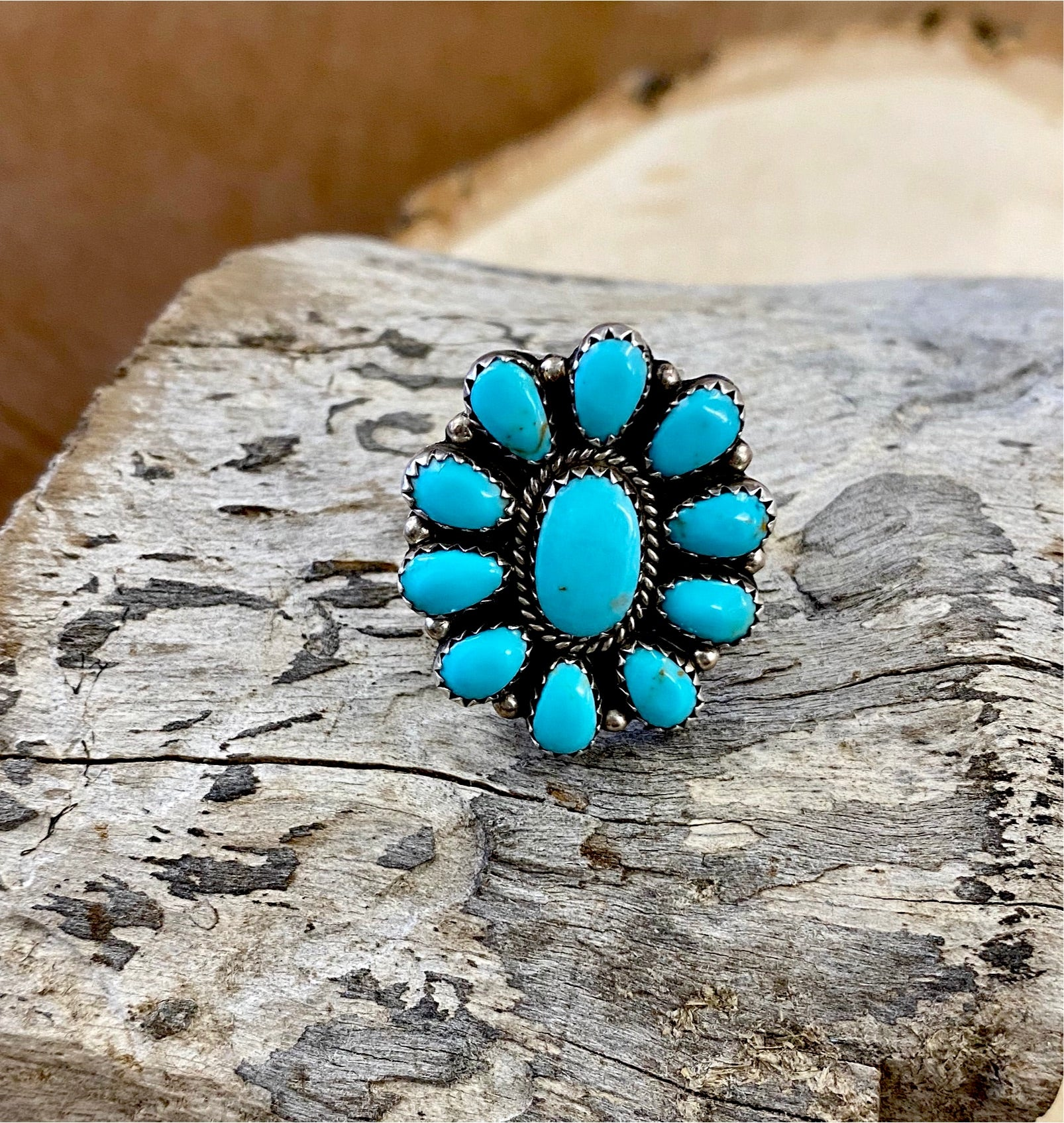 The Lovelett Turquoise Cluster Ring - Ny Texas Style Boutique