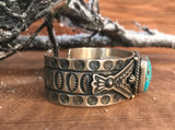 The Teepee Turquoise Stone Cuff - Ny Texas Style Boutique
