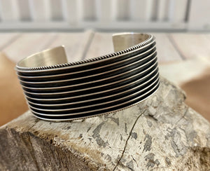 The Silver Y Indented Cuff - Ny Texas Style Boutique