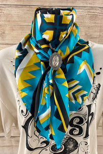 The Black Aztec Wild Rag - Ny Texas Style Boutique