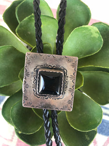 The Onyx Square Bolo - Ny Texas Style Boutique