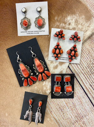 The JB Spiny Oyster Earrings - Ny Texas Style Boutique