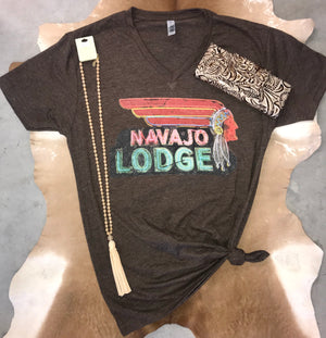 Navajo Lodge Tee - Ny Texas Style Boutique