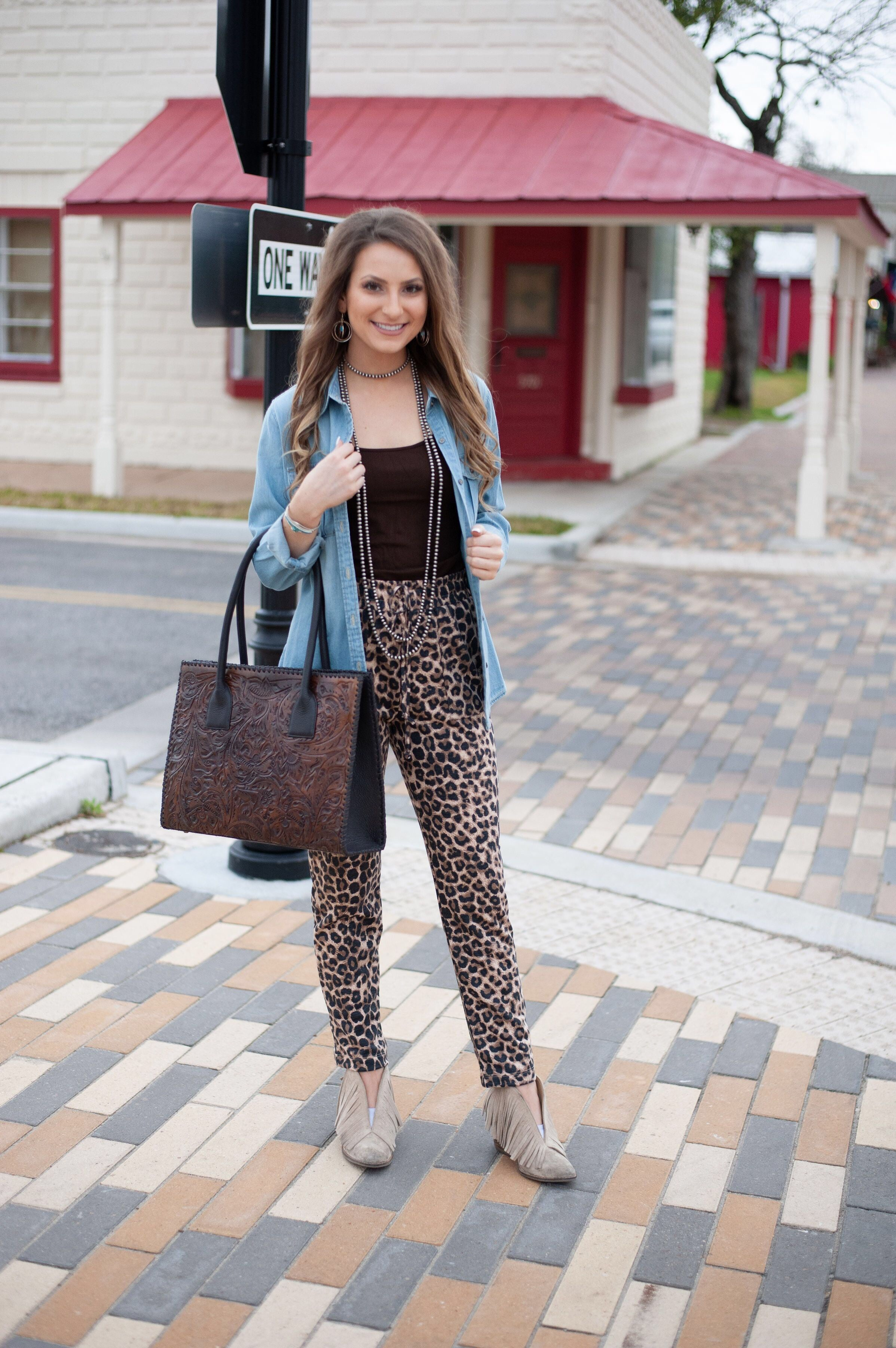 The Dancing Queen Leopard Pant - Ny Texas Style Boutique