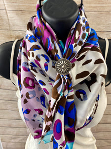 The Vibrant Leopard Wild Rag - Ny Texas Style Boutique