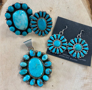 The ZB Turquoise Cluster Earrings - Ny Texas Style Boutique