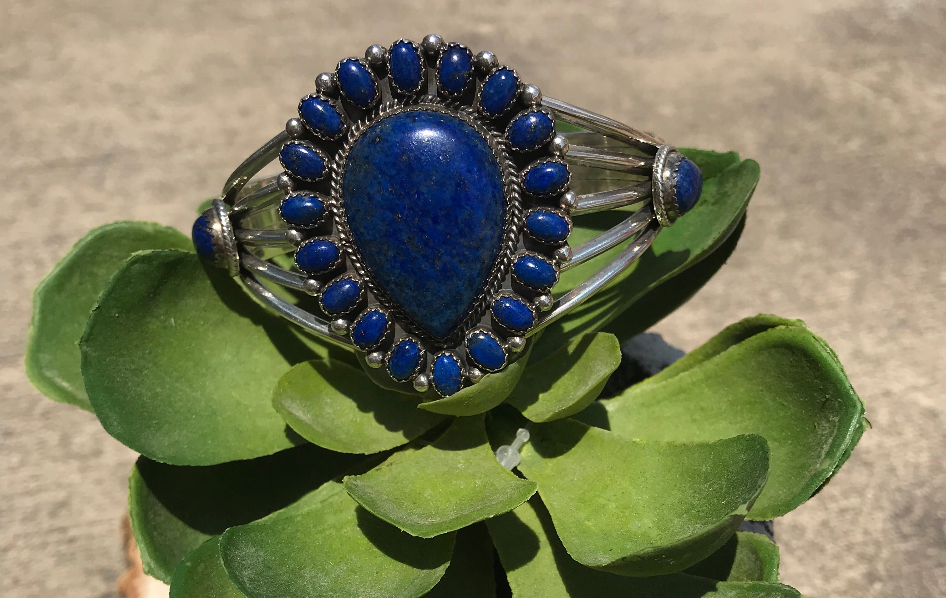 The Lapis Queen Cuff - Ny Texas Style Boutique