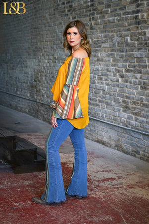 The Fleetwood Serape Jeans - Ny Texas Style Boutique