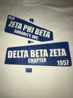 Delta Beta Zeta  Chapter Shirt