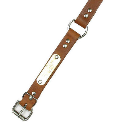 "Double Ply 1"" Wide Leather Dog Collar"