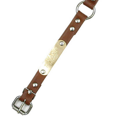 "Double Ply 3/4"" Wide Leather Dog Collar"