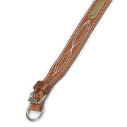 "Double Ply 1 1/2"" Western Stitched Leather Dog Collar"