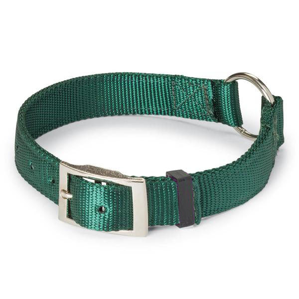 "Nite Lite Double Ply Nylon 1"" Ring-N-Center Dog Collar"