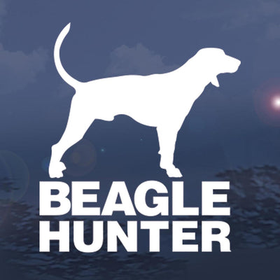 Wildlife Vinyl Window Decals - Beagle Hunter Design 5""