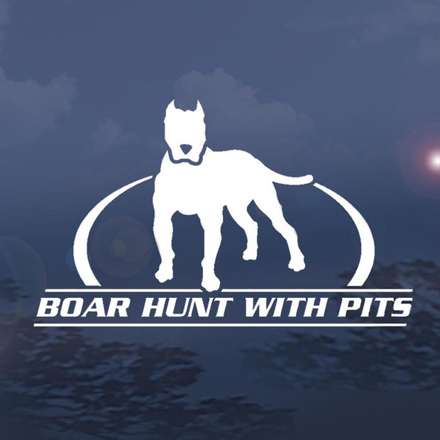 Wildlife Vinyl Window Decals - Boar Hunt Pitts Design 6""